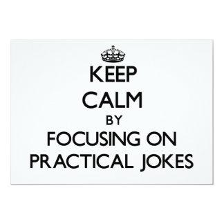 Guarde la calma centrándose en bromas comunicado