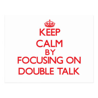Guarde la calma centrándose en charla doble tarjetas postales