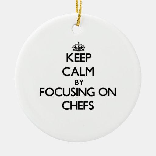 Guarde la calma centrándose en cocineros adorno