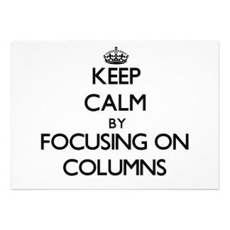 Guarde la calma centrándose en columnas