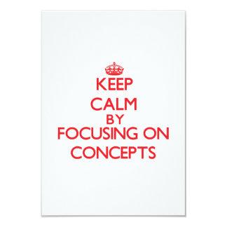 Guarde la calma centrándose en conceptos invitación 8,9 x 12,7 cm