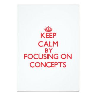 Guarde la calma centrándose en conceptos invitación 12,7 x 17,8 cm