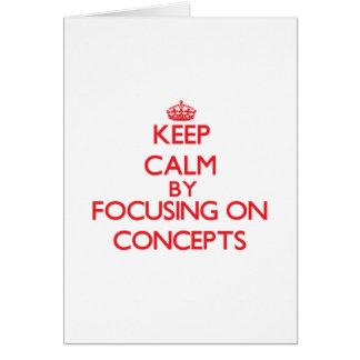 Guarde la calma centrándose en conceptos tarjetón