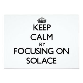 Guarde la calma centrándose en consuelo comunicados personales