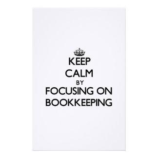 Guarde la calma centrándose en contabilidad  papeleria