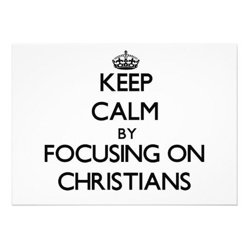 Guarde la calma centrándose en cristianos invitación