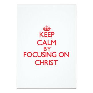 Guarde la calma centrándose en Cristo Invitación 8,9 X 12,7 Cm