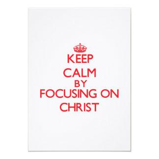 Guarde la calma centrándose en Cristo Invitación 12,7 X 17,8 Cm