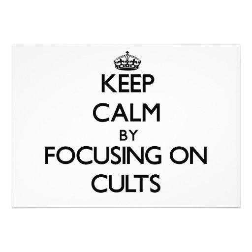 Guarde la calma centrándose en cultos anuncios personalizados