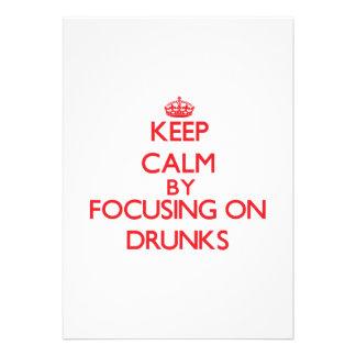 Guarde la calma centrándose en Drunks Invitacion Personalizada