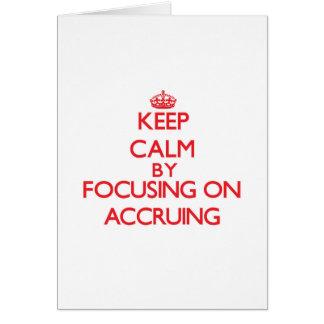 Guarde la calma centrándose en el acrecentamiento tarjeta de felicitación