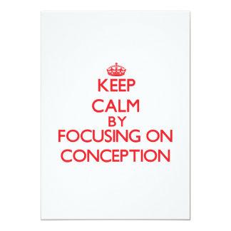 Guarde la calma centrándose en el concepto invitación 12,7 x 17,8 cm