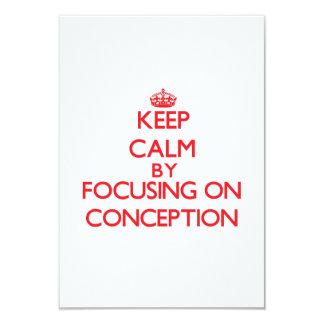 Guarde la calma centrándose en el concepto invitación 8,9 x 12,7 cm