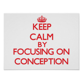 Guarde la calma centrándose en el concepto impresiones