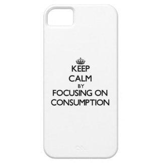 Guarde la calma centrándose en el consumo iPhone 5 Case-Mate cárcasa