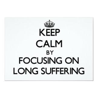 Guarde la calma centrándose en el sufrimiento anuncio