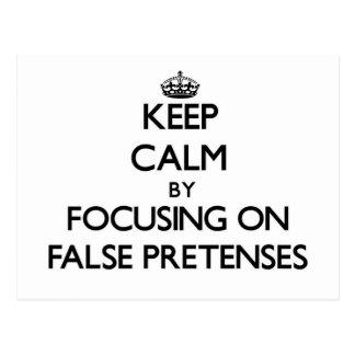 Guarde la calma centrándose en engaños