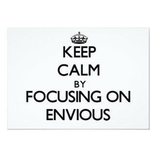Guarde la calma centrándose en ENVIDIOSO Anuncio Personalizado