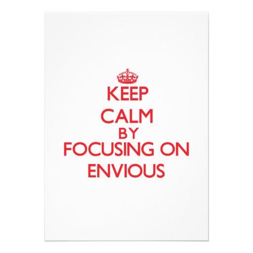 Guarde la calma centrándose en ENVIDIOSO Anuncios Personalizados