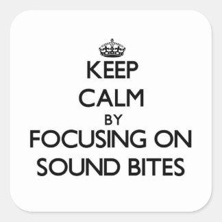 Guarde la calma centrándose en eslóganes