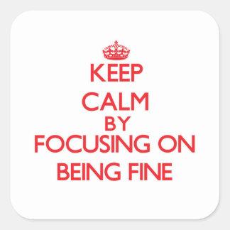 Guarde la calma centrándose en estar muy bien colcomanias cuadradases