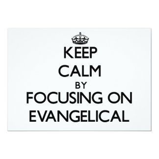 Guarde la calma centrándose en EVANGELICAL Invitación 12,7 X 17,8 Cm