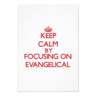 Guarde la calma centrándose en EVANGELICAL Comunicado Personal
