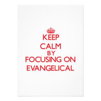 Guarde la calma centrándose en EVANGELICAL Anuncios Personalizados