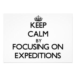 Guarde la calma centrándose en EXPEDICIONES