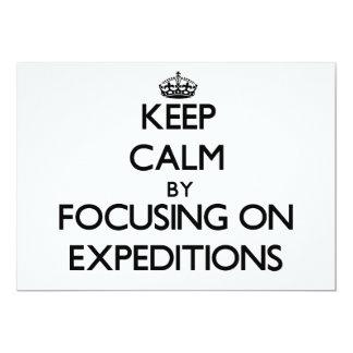 Guarde la calma centrándose en EXPEDICIONES Anuncios Personalizados