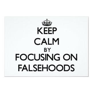Guarde la calma centrándose en falsedades invitación 12,7 x 17,8 cm