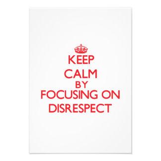 Guarde la calma centrándose en falta de respeto comunicado personal