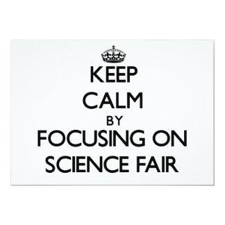 Guarde la calma centrándose en feria de ciencia invitación