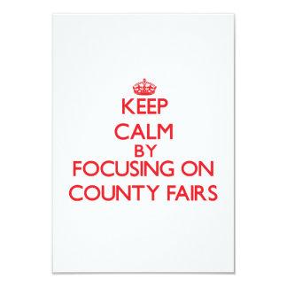 Guarde la calma centrándose en ferias del condado invitación personalizada