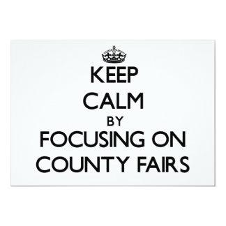 Guarde la calma centrándose en ferias del condado invitacion personal