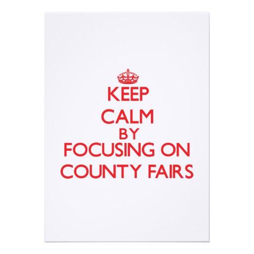 Guarde la calma centrándose en ferias del condado comunicado
