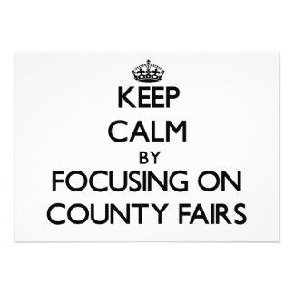 Guarde la calma centrándose en ferias del condado