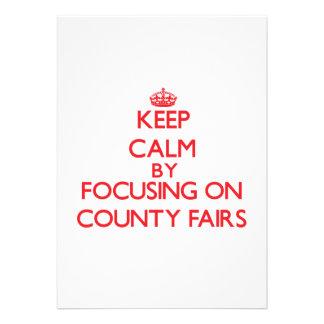 Guarde la calma centrándose en ferias del condado comunicados