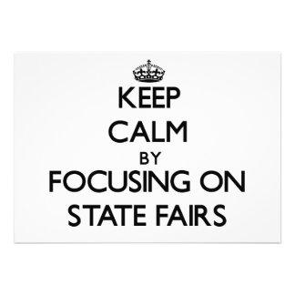 Guarde la calma centrándose en ferias del estado