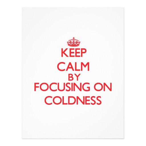 Guarde la calma centrándose en frialdad tarjetones