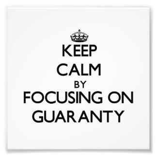 Guarde la calma centrándose en garantía cojinete