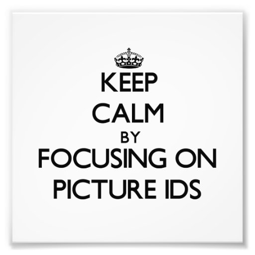 Guarde la calma centrándose en Ids de la imagen Arte Con Fotos