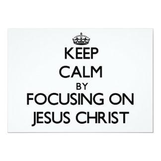 Guarde la calma centrándose en Jesucristo Invitación 12,7 X 17,8 Cm