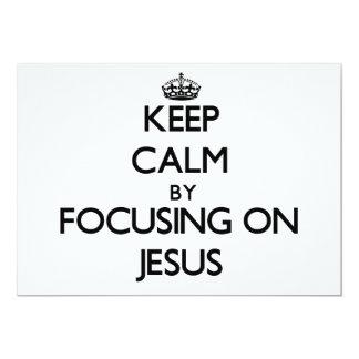 Guarde la calma centrándose en Jesús Invitación 12,7 X 17,8 Cm