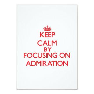 Guarde la calma centrándose en la admiración invitacion personal
