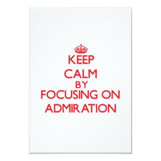 Guarde la calma centrándose en la admiración comunicados personales