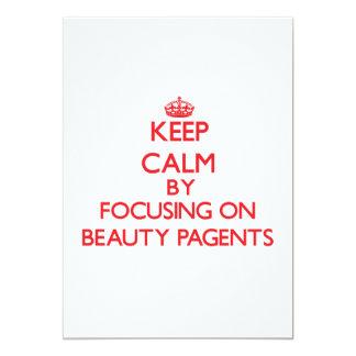 Guarde la calma centrándose en la belleza Pagents Invitación 12,7 X 17,8 Cm