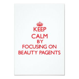 Guarde la calma centrándose en la belleza Pagents Invitación 8,9 X 12,7 Cm