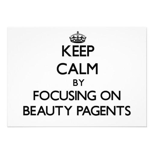 Guarde la calma centrándose en la belleza Pagents Invitaciones Personales