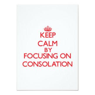 Guarde la calma centrándose en la consolación comunicado personalizado